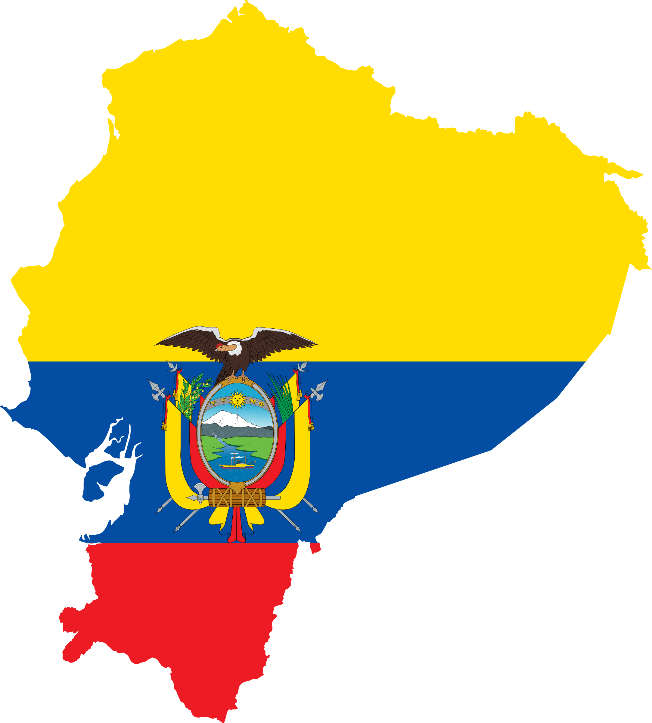 Ecuador-Flag-Map